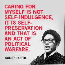 self-care with Audre Lorde